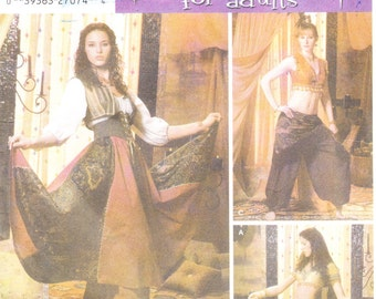 Simplicity 5359 Misses' Belly Dancing Costume Pattern , 14-20