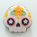Felt sugar skull Day of the Dead Halloween plush