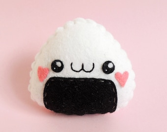 Felt Kawaii Sushi Onigiri Rice Plush