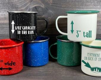 Personalize a Enamelware Tin Camping Mug