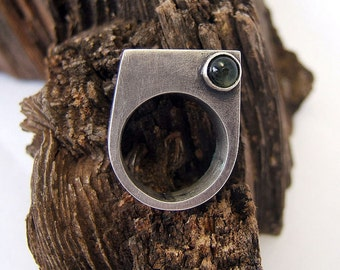 Sterling Silver Tourmaline Ring