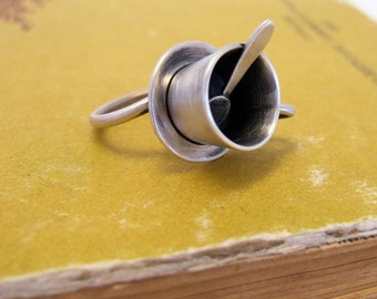 Sterling Silver Cup Ring