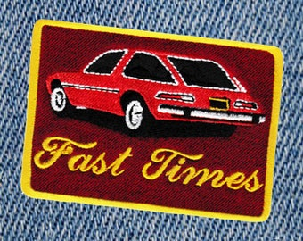 """Awesome Vintage Style 70's Patch """"Fast Times"""" """"Keep on Truckin"""" Pacer Patch 8.5cm Iron On"""