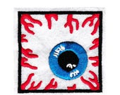Cool Different Square Bloodshot Eye Patch 6.5cm