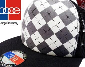 4f89e18f4ef smARTpatches Truckers Argyle Style Hip Hop Trucker Snapback by lidstars  headwear