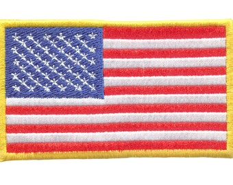 c6a2099c676 USA American Flag Embroidered Patch Badge for Cap Hat Shirt Patriot 10cm x  6.5cm