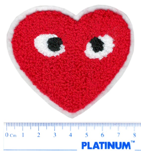 Heart Love Red 7.5cm x 7.5cm Embroidered Patch Badge Iron Or Sew On 10cm