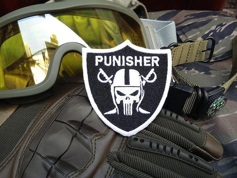 Cool Custom Police Skull Shield Tactical Shirt Morale Patch  6442ba188