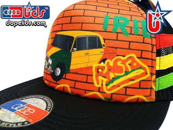 smARTpatches Truckers Rasta Lada Graffiti Trucker Hat Cap ...