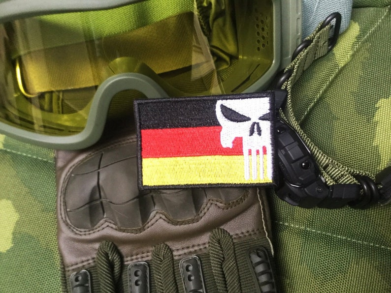 German Military Flag Tactical Embroidered Morale Patch Badge Germany  Football World Cup Soccer