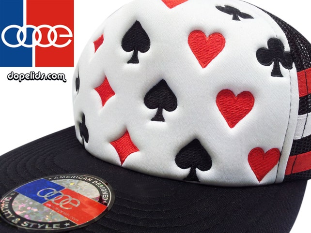 6d0f579a0e1 D13 Poker Style Trucker Hat Cap Patch 70 s 80 s Curved