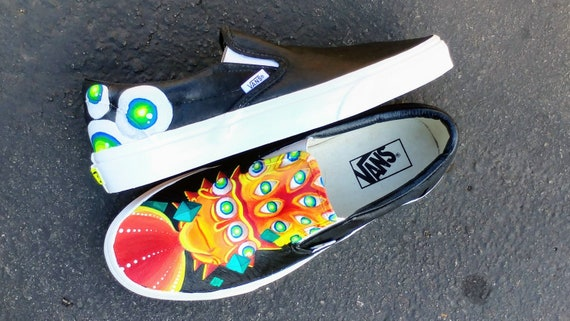 Rick and Morty Custom Painted Vans