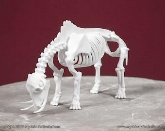 Catoblepas Skeleton 3D Print Taxidermy Sculpture