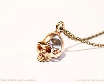 Sasquatch Skull Pendant in 3D Printed Bronze