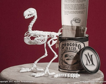 Chocobo in a Can 3D Print Terrorbird Taxidermy Poseable Figure