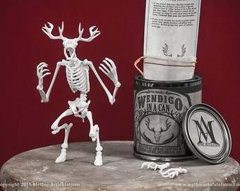 Wendigo in a Can 3D Print Taxidermy Poseable Figure