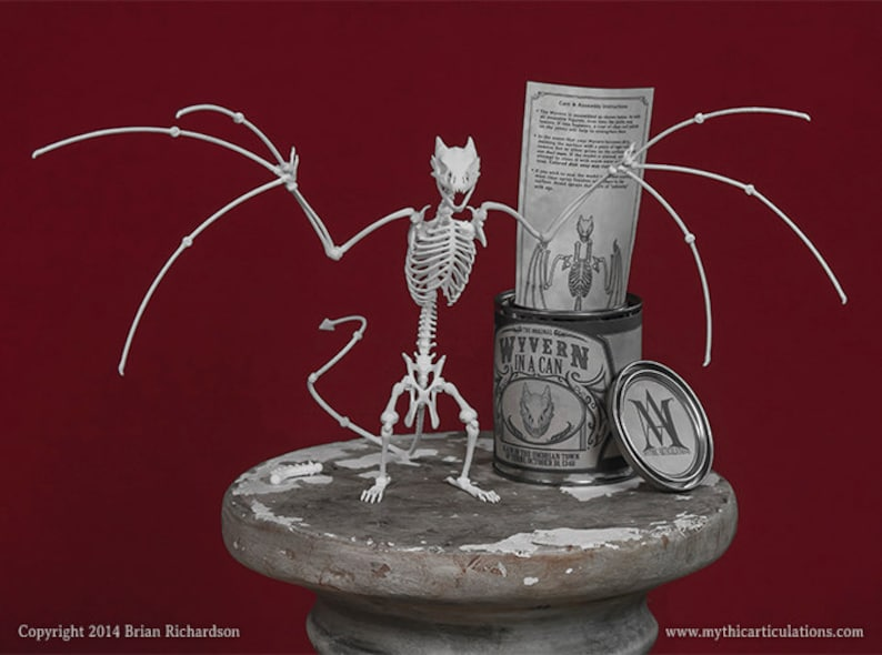 Wyvern in a Can 3D Print Taxidermy Poseable Figure image 0