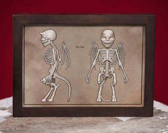 Imp Skeleton Faux-Scientific Print