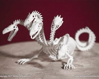 Hydra Skeleton 3D Print Taxidermy Sculpture