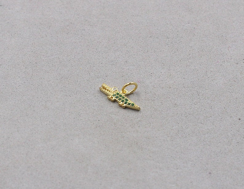 15mm Sterling Silver Crocodile Gold Plated Pendant 925 Silver Pendants Charms Wholesale For Bridesmaid Gift Party YX-Y1685-B