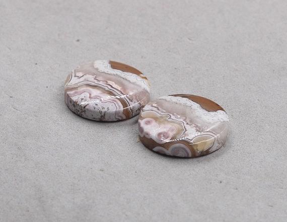 Crazy Lace Agate Pair Cabochon Fancy Shape 12 x 29 x 3 mm Natural Gemstone Pair Designer Pair Agate Earring Pair Flat Back Gemstone #2379