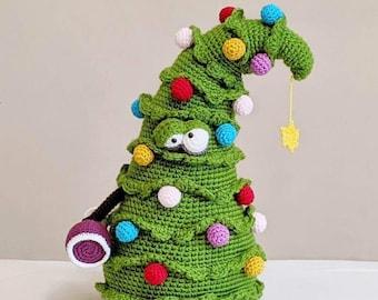 Crochet Christmas Tree Doorstop, PDF PATTERN ONLY, Xmas Decoration, Amigurumi Tutorial, Shelf Sitter, Softoy, Trevor