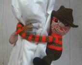Crochet Freddy Curtain Tie Backs, Amigurumi PDF PATTERN ONLY, Horror Nursery Decoration, Man Cave Birthday Gift
