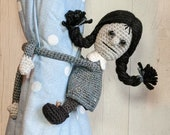 Crochet Spooky Child Curtain Tie Backs, Amigurumi PDF PATTERN ONLY, Horror Nursery Decoration, Man Cave Birthday Gift, Girl Version