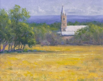 Doss Valley Church, original oil painting