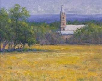 Original Oil Painting, Doss Valley Church, Framed Artwork