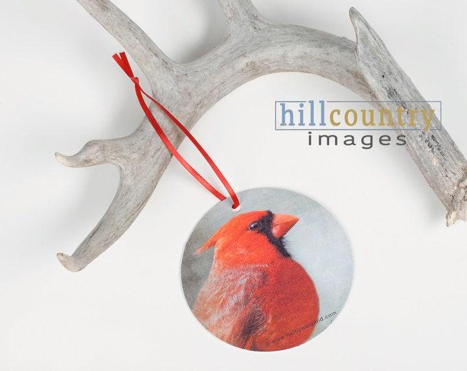 Mini Art Sale - Red Cardinal Canvas Gift Tag & Ornament