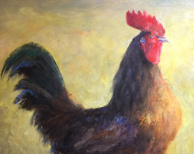Farmhouse Rooster Signed Fine Art Print & Canvas