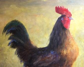 Mini Art Sale  - Farmhouse Rooster Signed Print