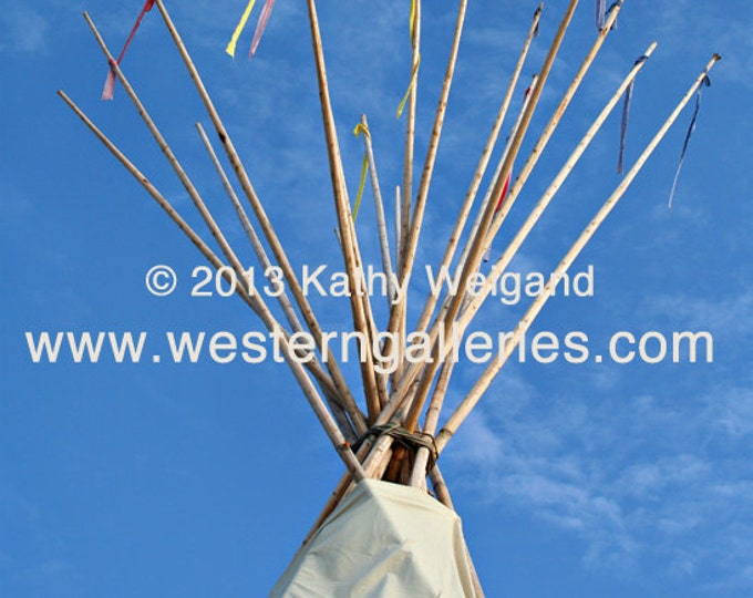 Nation's Moon, Tipi Signed Fine Art Print