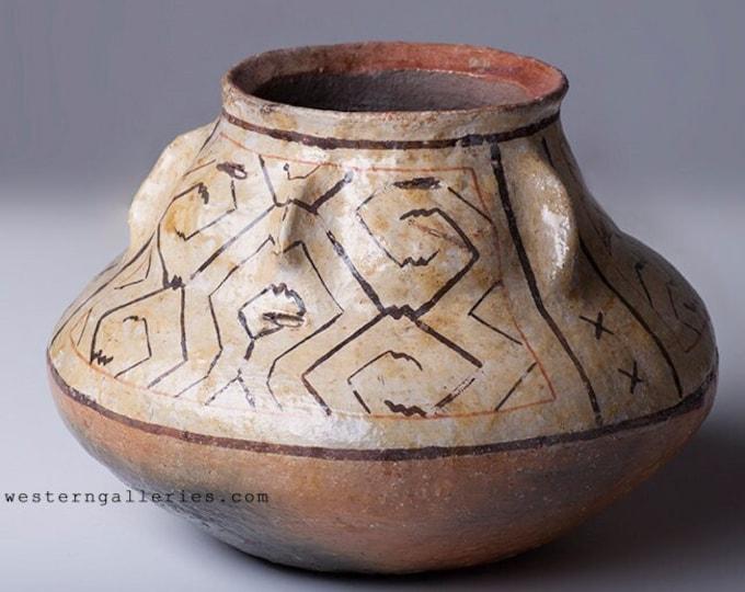 Shipibo Tribal Peruvian Face Pottery, Amazon, Peru Native American Tribe Vessel, Effigy Bowl