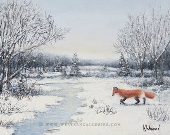 5x7 Christmas, Holiday, & Greeting Cards of Winter Wonderland and Red Fox,  Note Cards