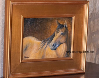 Portrait of a Horse, original oil painting