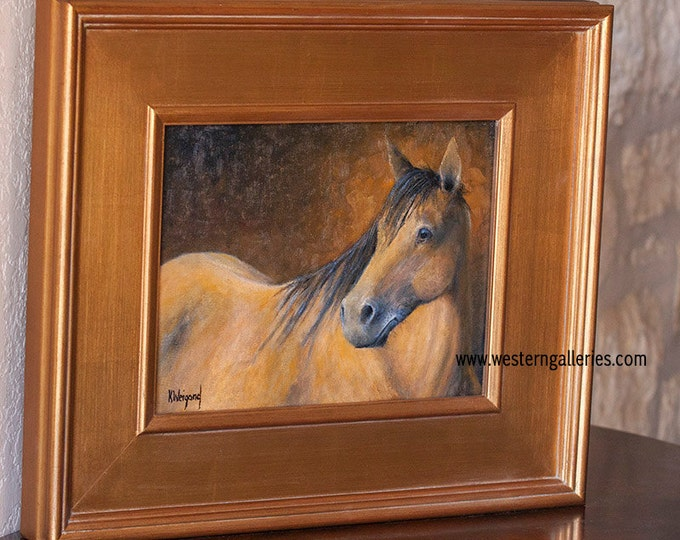 Original Oil Painting, Portrait of a Horse