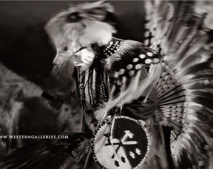 Native American Dancer, Black & White Fine Art Print