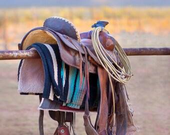 Cowboy Saddle New Mexico Fine Art Print