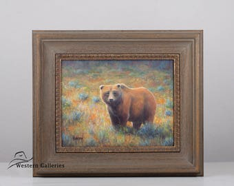 Yellowstone Grizzly Bear, original oil painting