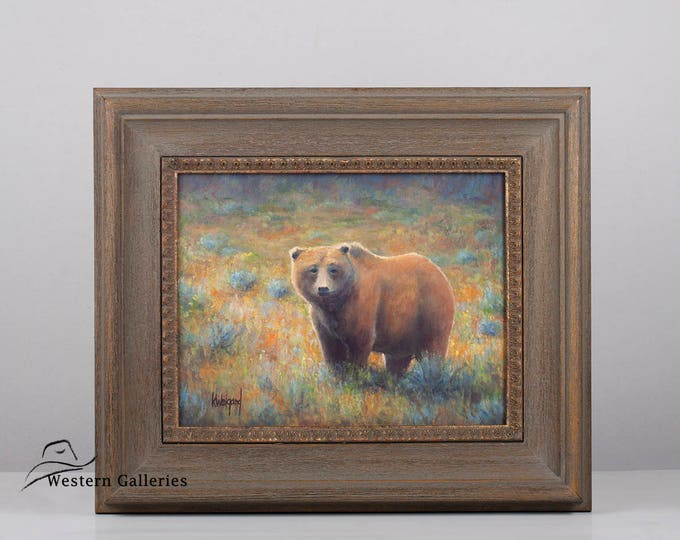 Original Oil Painting, Yellowstone Grizzly Brown Bear