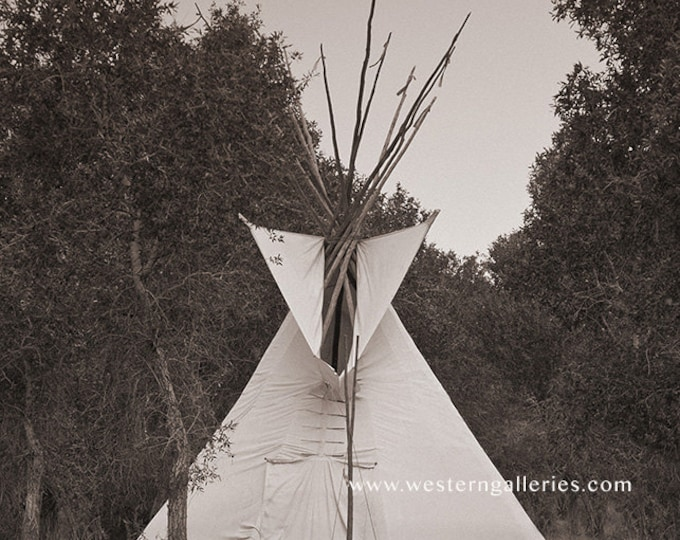 Native American Tipi, Wyoming, Fine Art Print