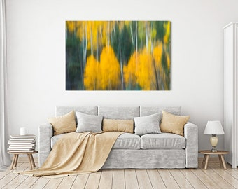 Large Abstract (Aspens 2), Canvas Wall Print