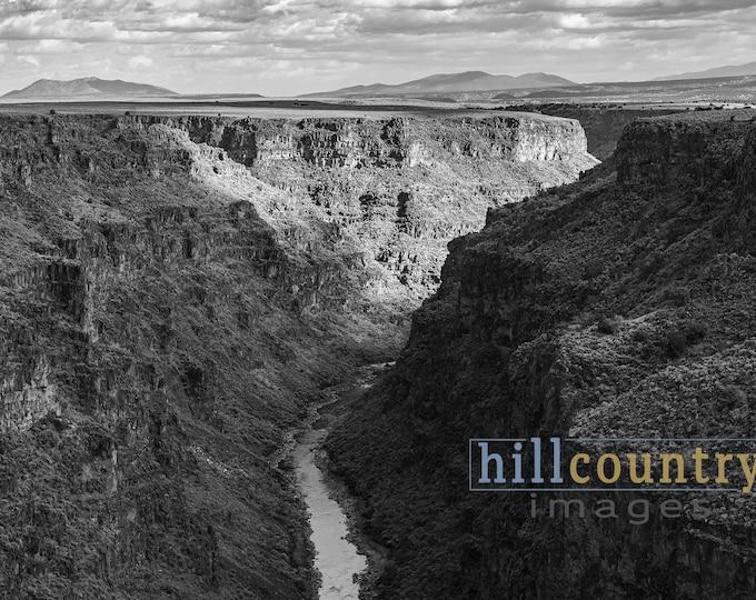 Taos New Mexico Rio Grande Gorge Signed Fine Art Photographic Print