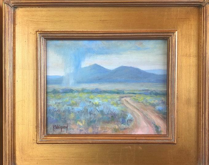 Taos Rain Original Fine Art Oil Painting