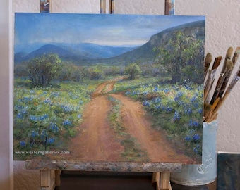 Off The Loop, Willow City Loop Signed Bluebonnet Print