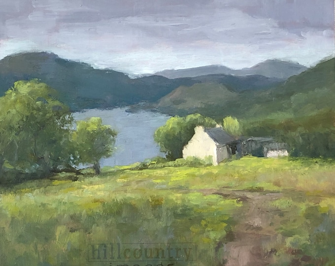 Highlands of Scotland Original Fine Art Oil Painting