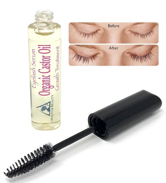 Castor Oil Stimulate Eyelash Growth Serum Cold Pressed Organic Etsy
