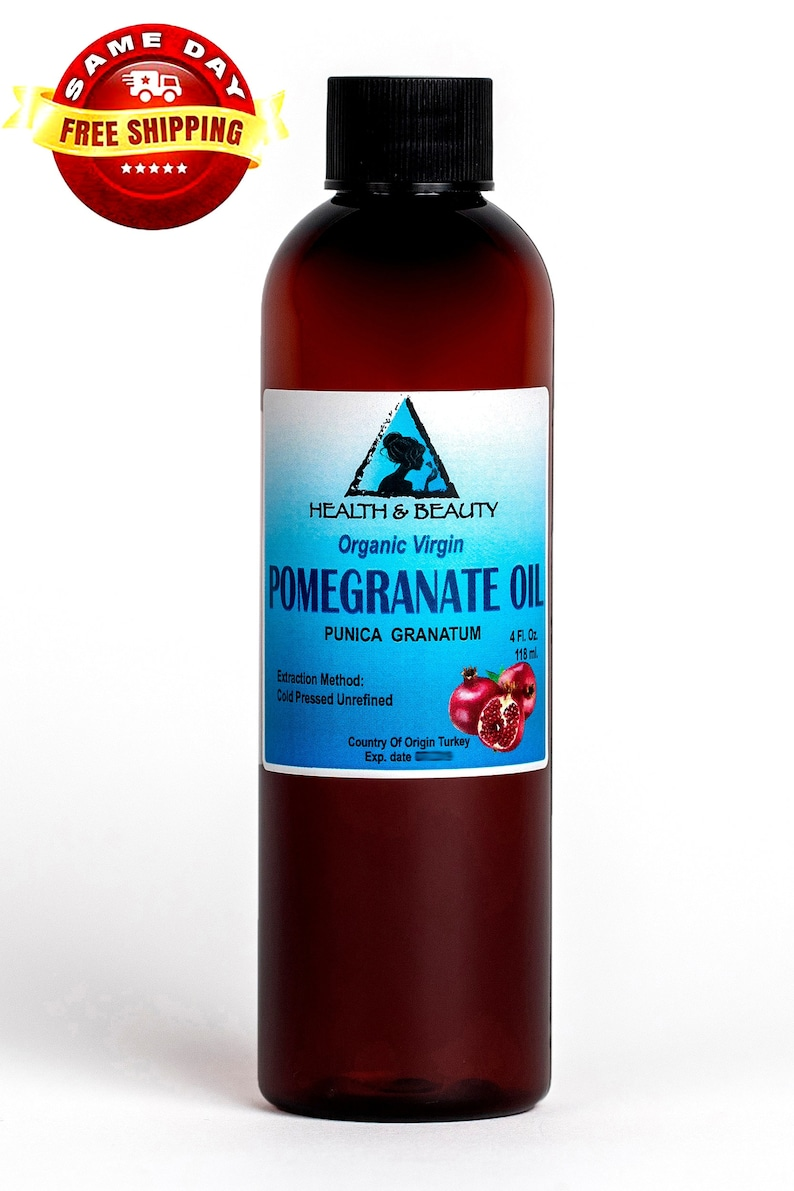 4 oz POMEGRANATE Seed OIL UNREFINED Organic Cold Pressed Virgin Raw Fresh  Pure